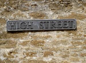 Tradtional High Street sign
