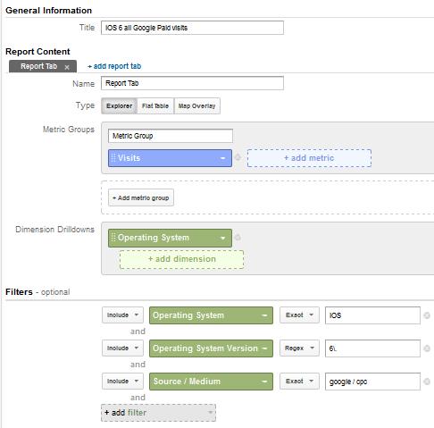 custom report google analytics paid for