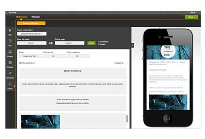 Mobile Web Site Creator