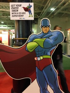 Have your photo taken with the 123-reg superhero