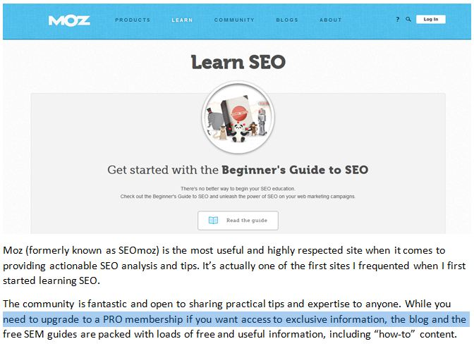 Learn SEO from the experts