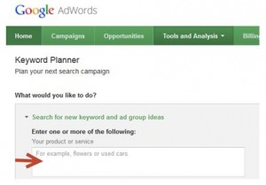 Google AdWords Adding Keywords