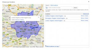 Google AdWords Choose Location