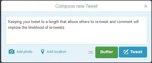 An ideal length tweet