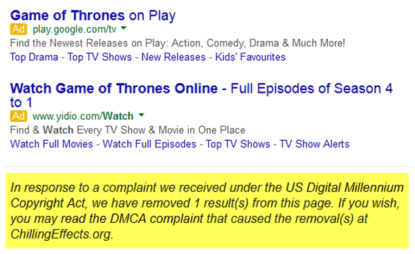 disclosure google complaint