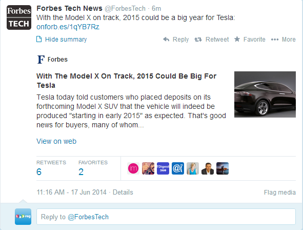 Forbes Twitter card