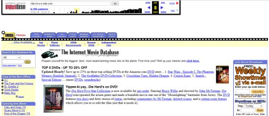 imdb waybackmachine