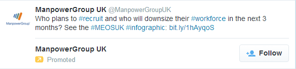 Manpower promoted account