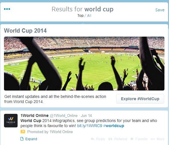 promoted tweet in timeline