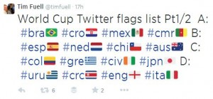 world cup twitter flags part 1