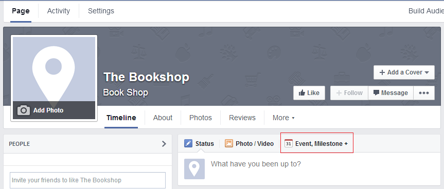 Facebook event ad example