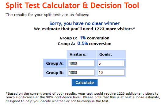 calculator no winner