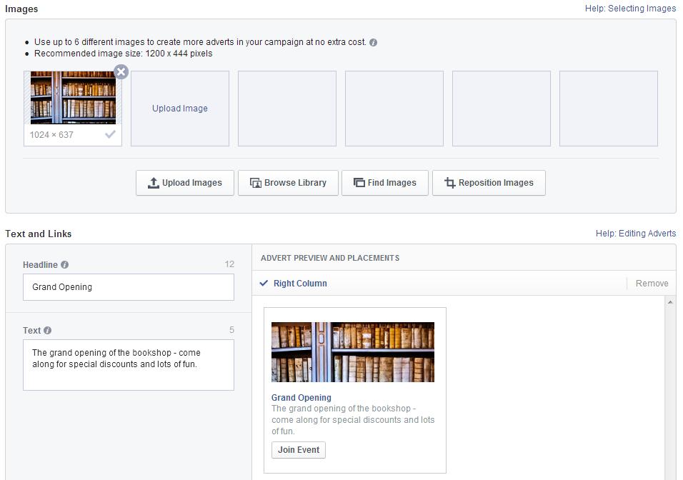 Facebook event example 3