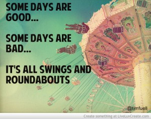Life is all swings and roundabouts