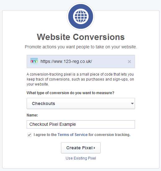 website conversions example 1