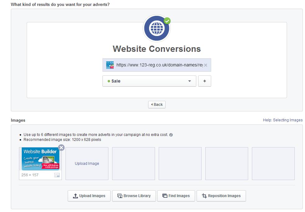 website conversion example 3