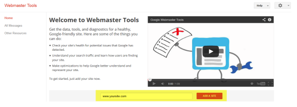 Google Webmaster Tools (GWT) or Google Search Console