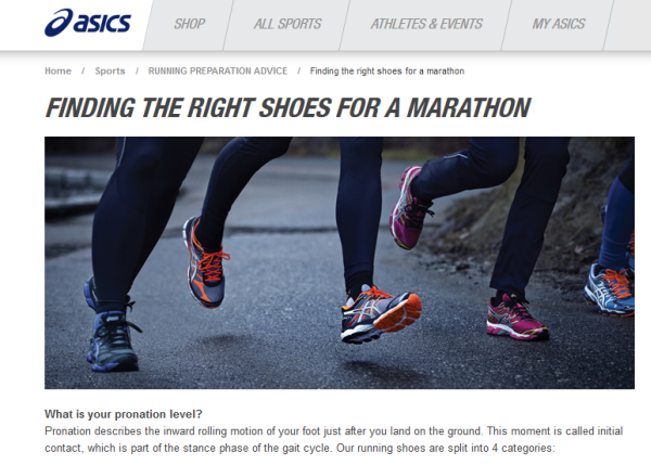 Asics Educational Content