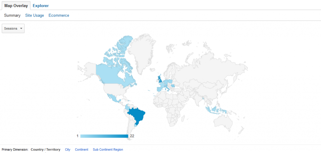 Google Analytics Map Overlay