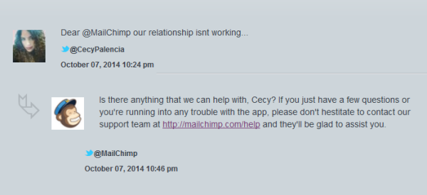 MailChimp Social Media Support