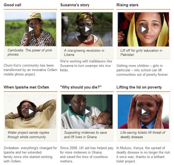 Oxfam video credibility