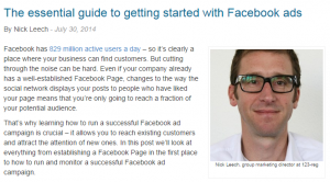 The essential guide to facebook ads