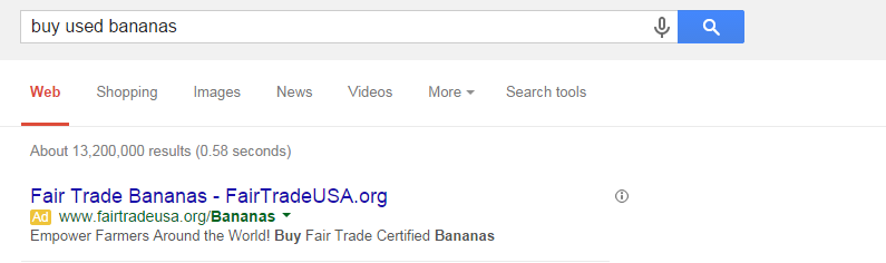 There's probably not much of a market for used bananas