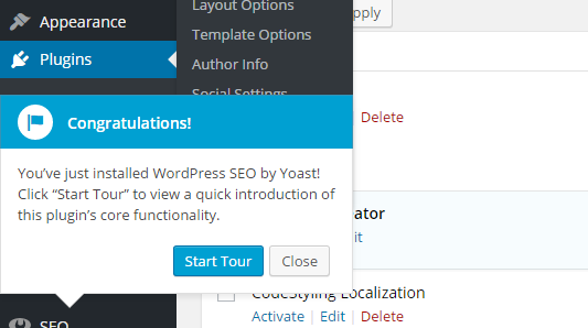 Using WordPress Plugins tours