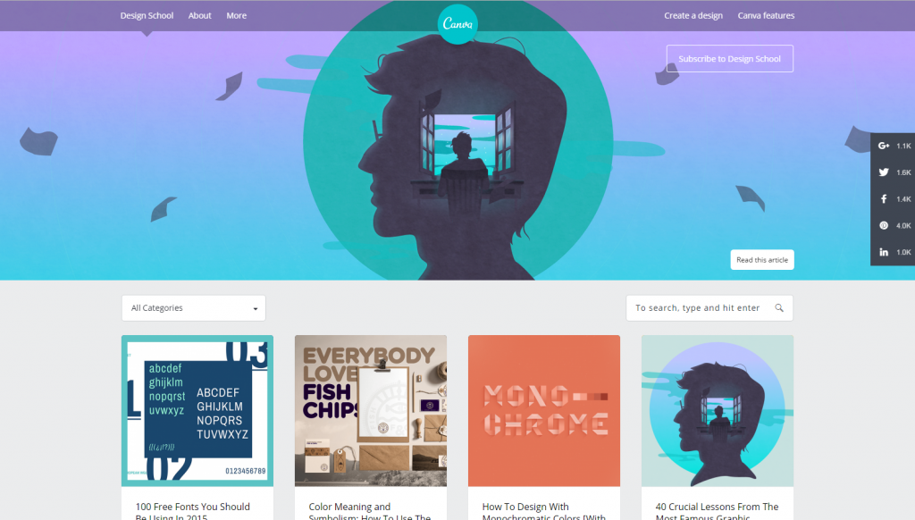 Canva also has a design course