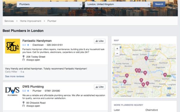 facebook plumbers london