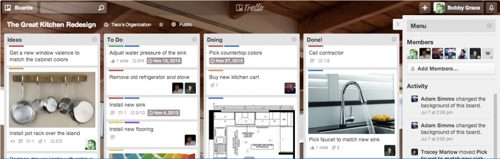 Trello in action