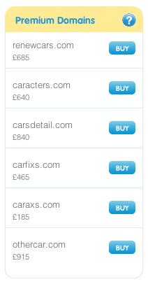 Premium domains box