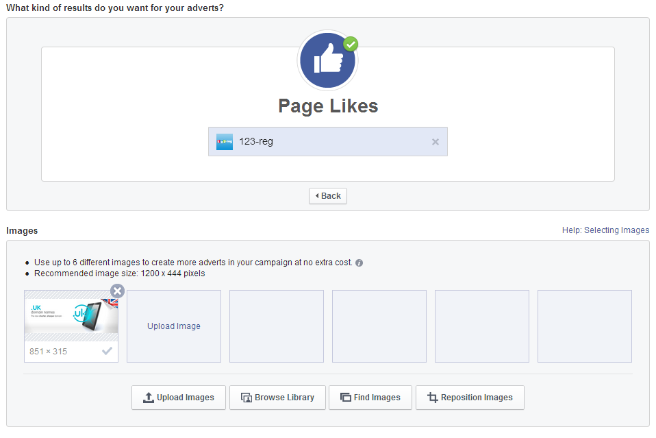 Page Likes example 1