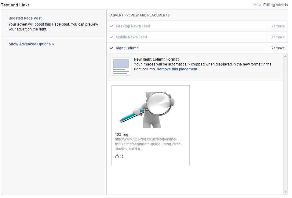 Page post engagement screenshot 2