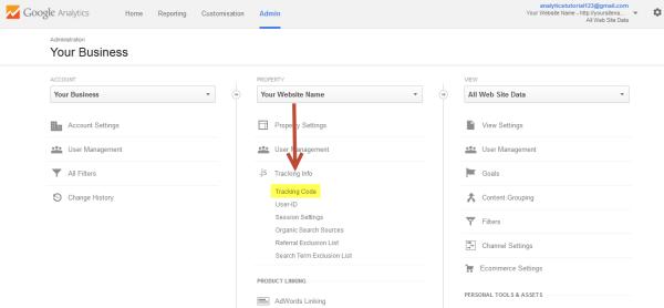 Google Analytics Access Tracking Code