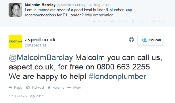 plumber search twitter