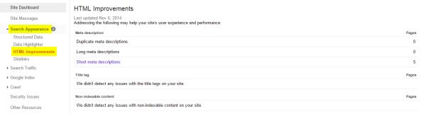 HTML Improvements GWT