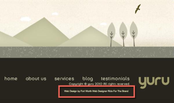 web designer footer