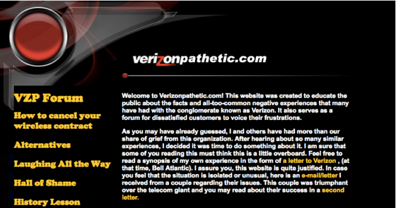 verizon attack site