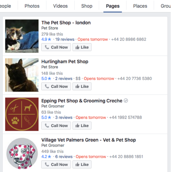 facebook pet shop