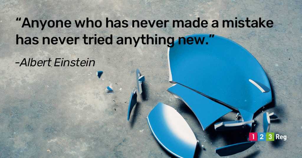 """Anyone who has never made a mistake has never tried anything new."" - Albert Einstein"