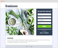 GREEN LEAVES - LANDING PAGE