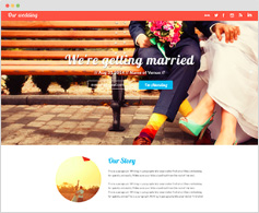 THE WEDDING - LANDING PAGE