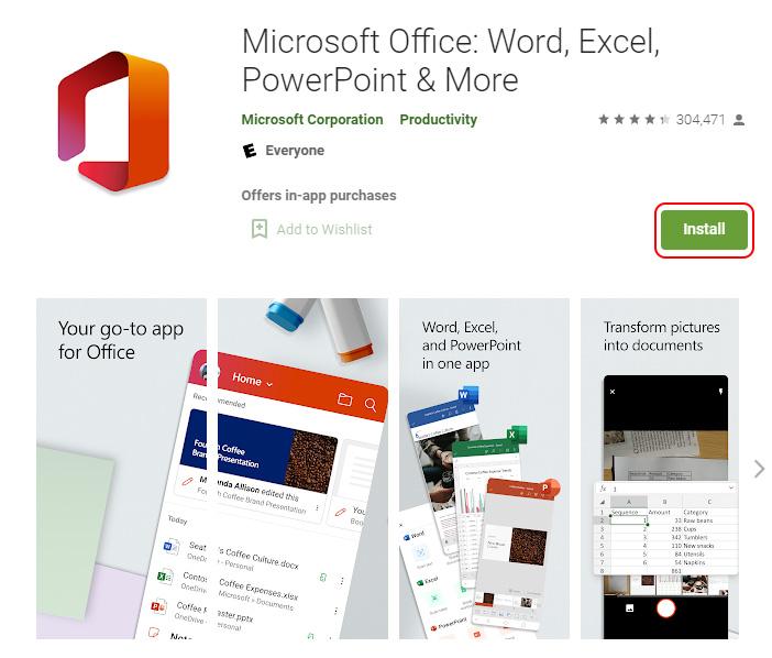 Install Microsoft Office