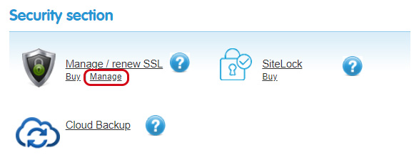 Manage SSL