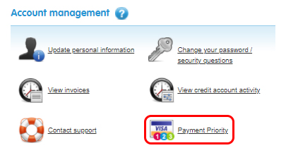 Select Payment Priority