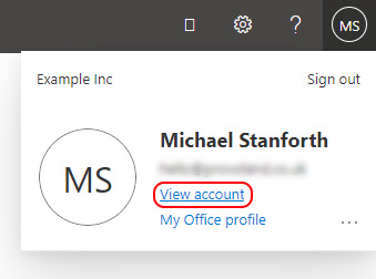 Select View account