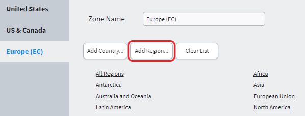 Add Region