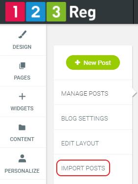 Click Import posts