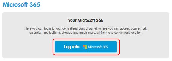 Log into Microsoft 365